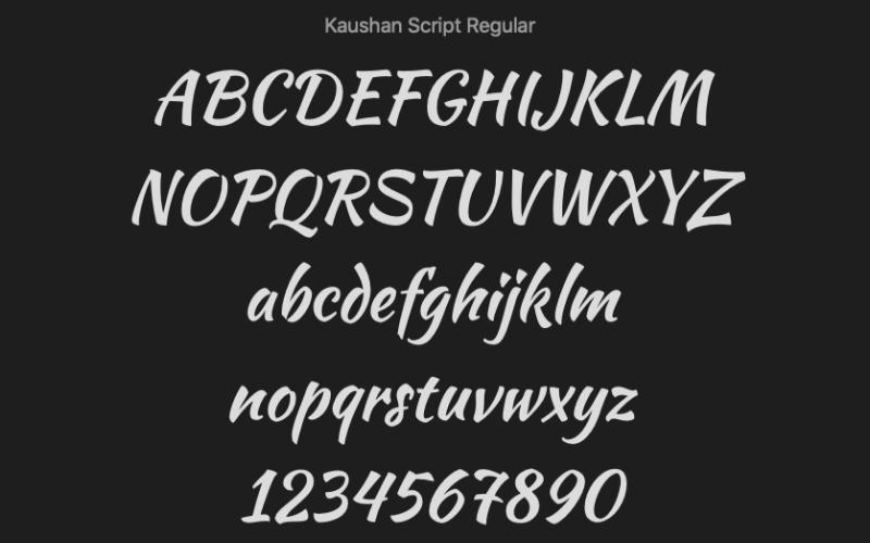 Kaushan Script Regular Font