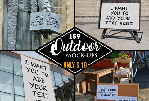 Business Mockups: 159 Outdoor Mock-ups