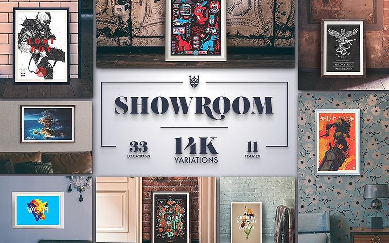 Showroom Business Mockups Variations